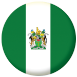 Rhodesia Country Flag 25mm Keyring